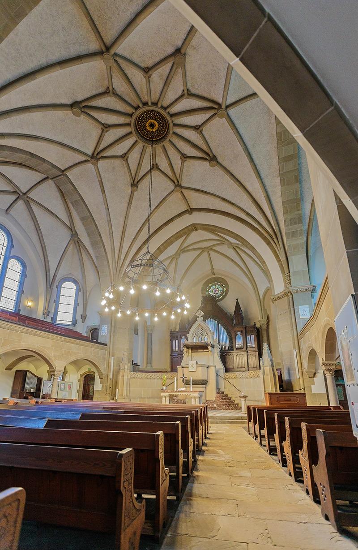 Lutherkirche Krefeld Seitenansicht